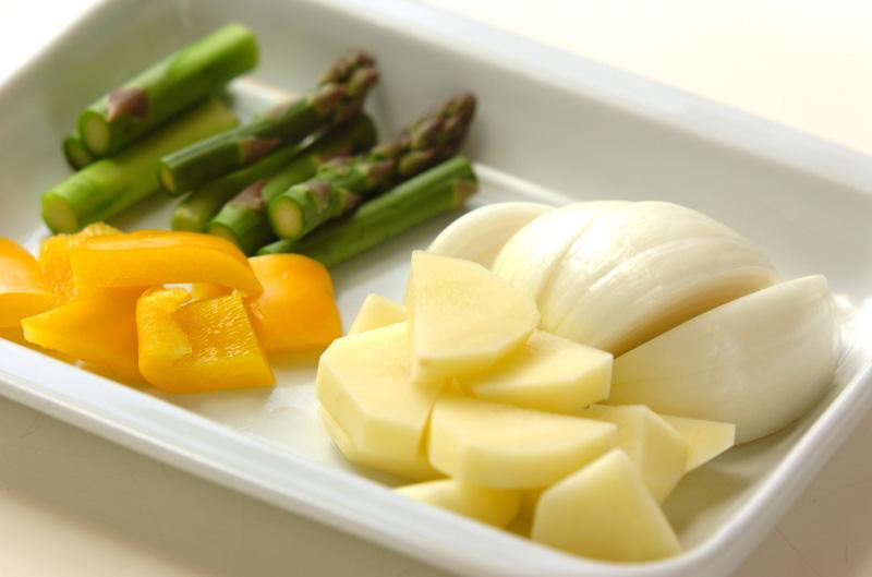 イカと野菜のオーブン焼きの作り方の手順2