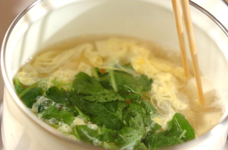 卵スープの作り方の手順4