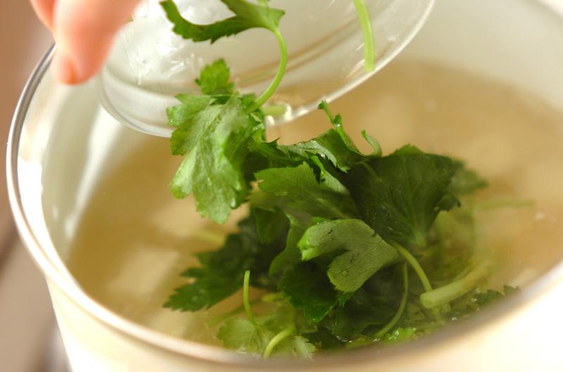 卵スープの作り方の手順3