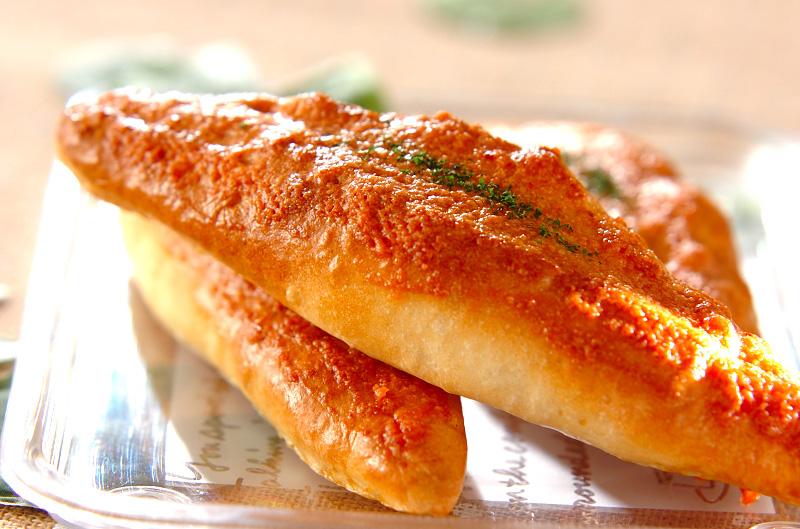 明太子フランスパンの作り方の手順