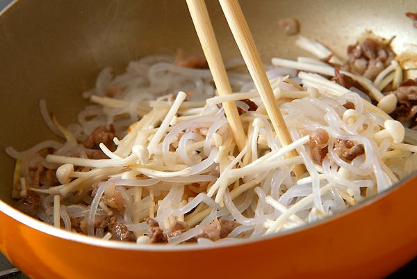 糸コンとエノキのしぐれ煮の作り方の手順3