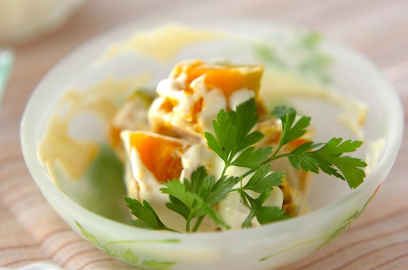 カボチャのチーズ和え