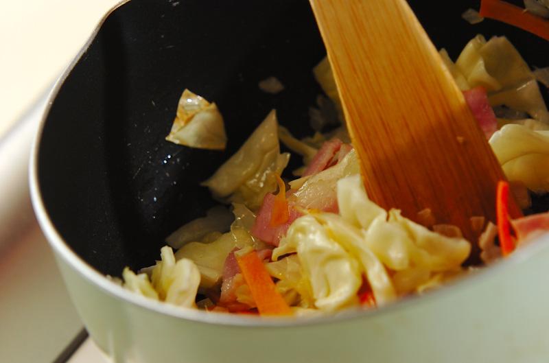 パスタ入りミルクスープの作り方1