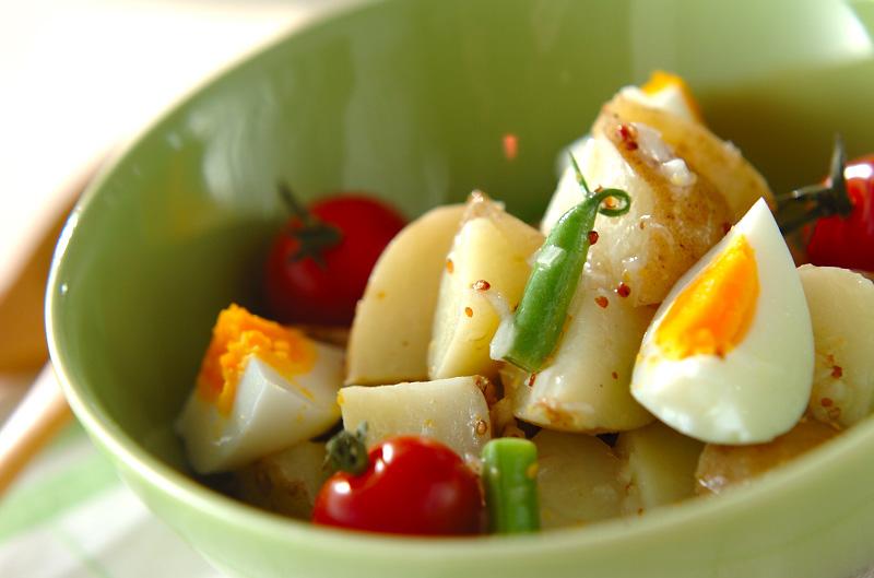 新ジャガイモのカラフルサラダの作り方の手順