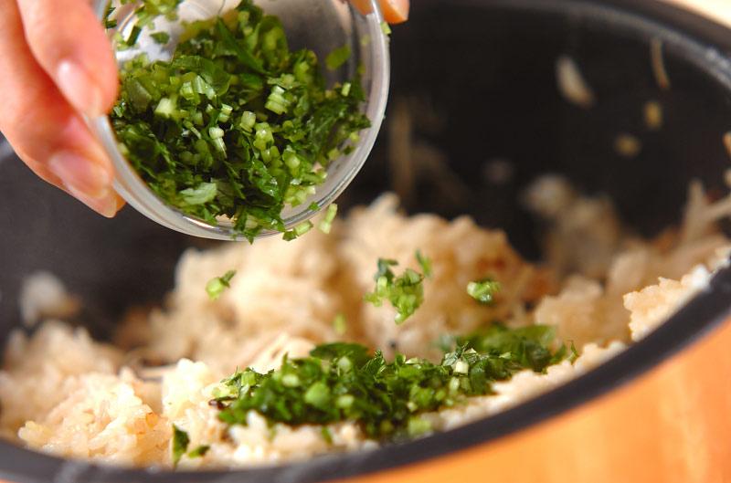 秋の炊き込みご飯の作り方の手順9