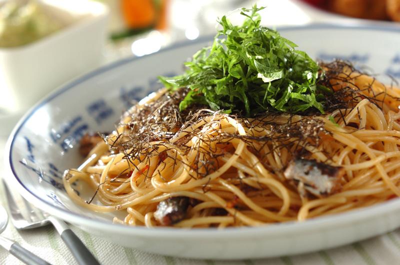 オイルサーディンの和風パスタ【E・レシピ】料理のプロが作る簡単レシピ/2013.06.10公開のレシピです。