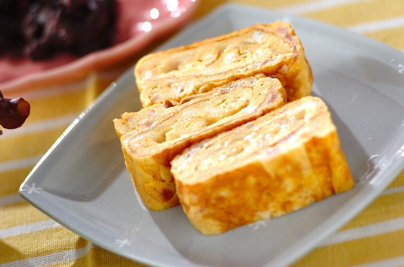 ベーコンとチーズ入り卵焼きのレ...