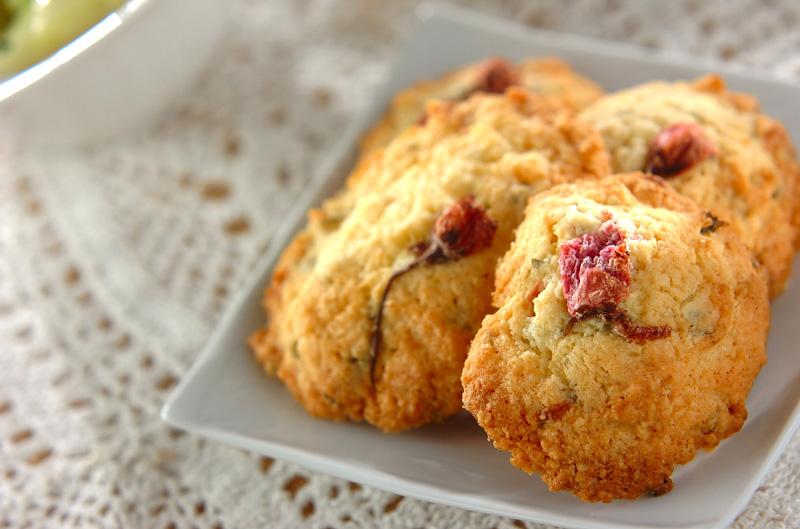 桜のクッキーの作り方の手順