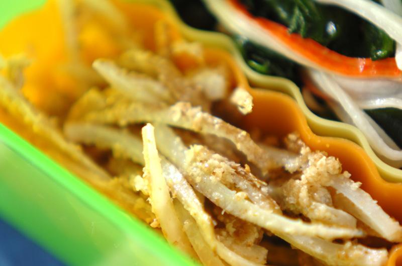 蒸しゴボウのサラダの作り方の手順