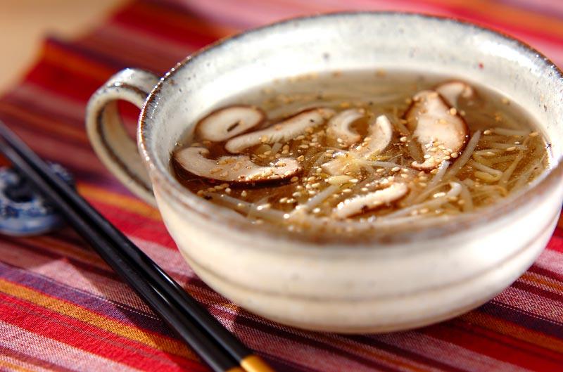 モヤシのスープの作り方の手順