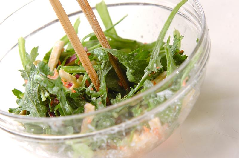 菊菜のかき揚げの作り方の手順7