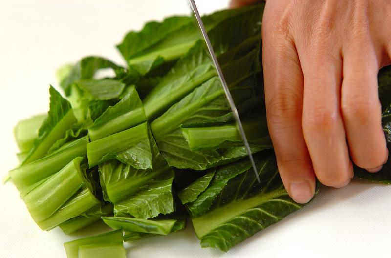 青菜のお浸しの作り方の手順1