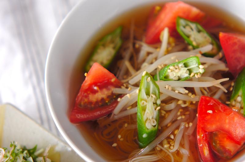 夏野菜の麺汁