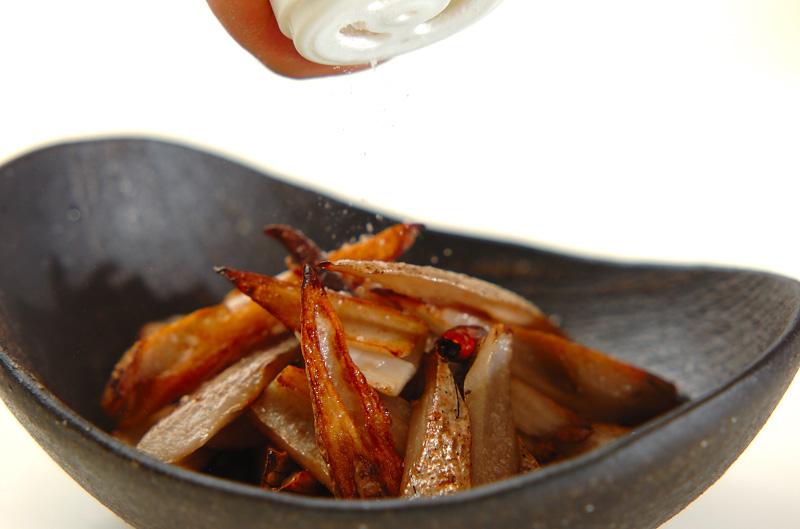 レンコンの塩きんぴらの作り方の手順3