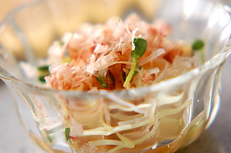 甘酢ドレッシングの大根サラダ