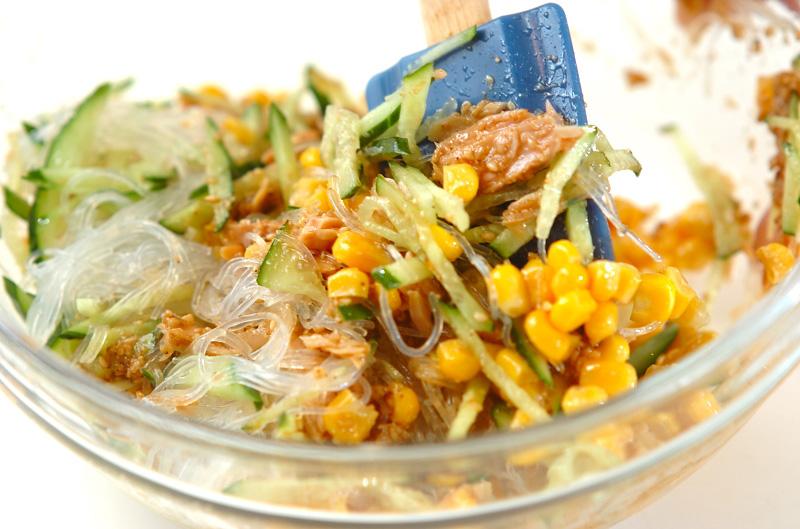 春雨のピリ辛ゴマ酢サラダの作り方の手順6