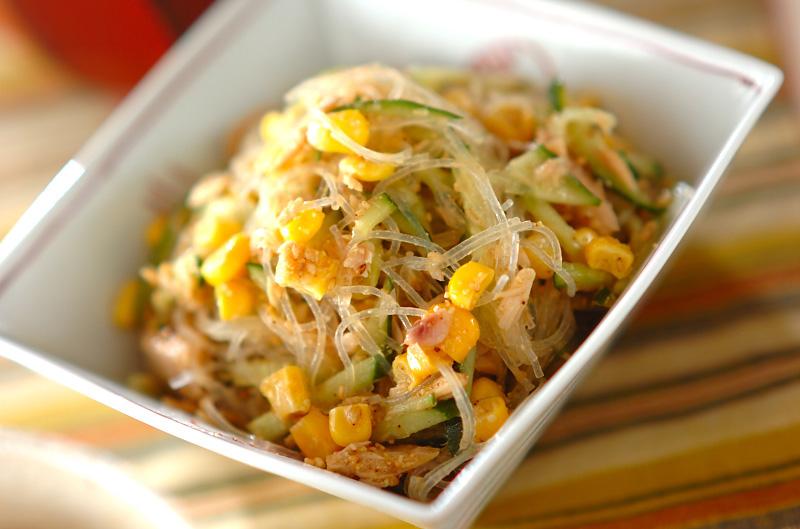 春雨のピリ辛ゴマ酢サラダの作り方の手順