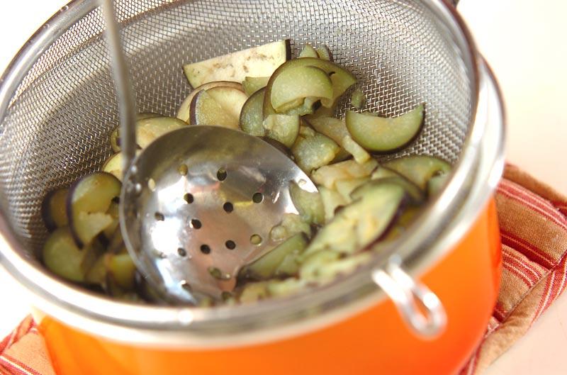 ナスのゴマ和えバジル風味の作り方の手順4