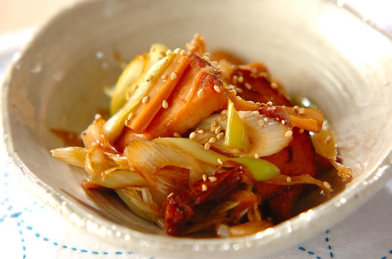 焼き豚とメンマの炒め物