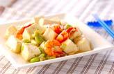 豆腐とエビの塩炒めの作り方の手順