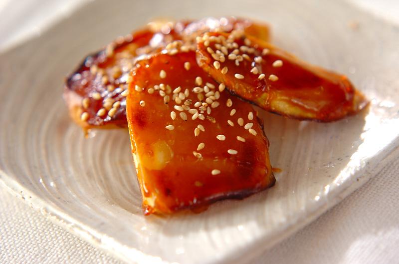 サツマイモの焼き肉タレ焼きの作り方の手順