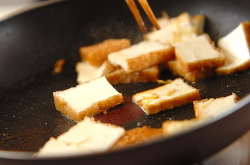 厚揚げのショウガ炒めの作り方の手順3