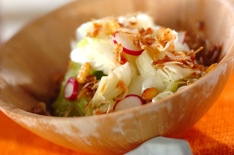 キャベツのジャコドレサラダ