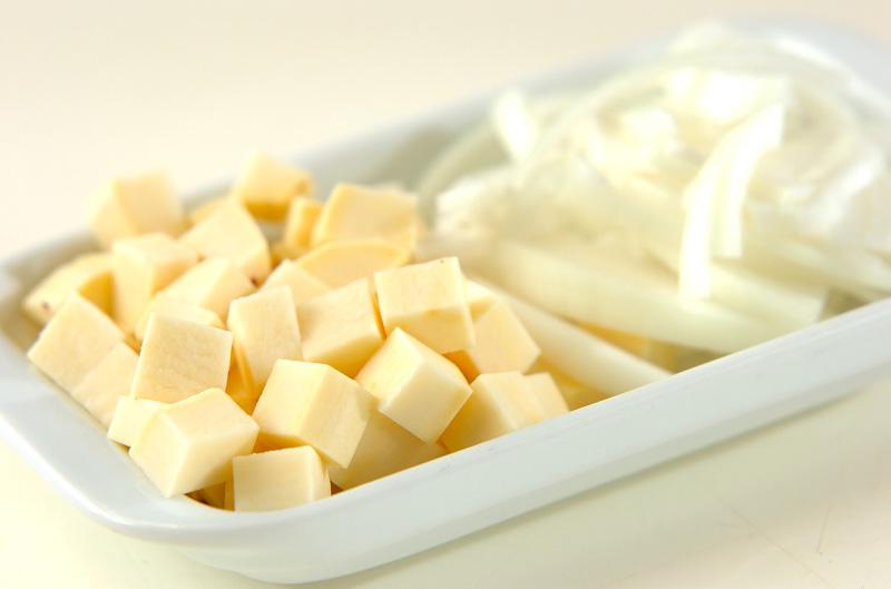 サツマイモのスープの作り方の手順1