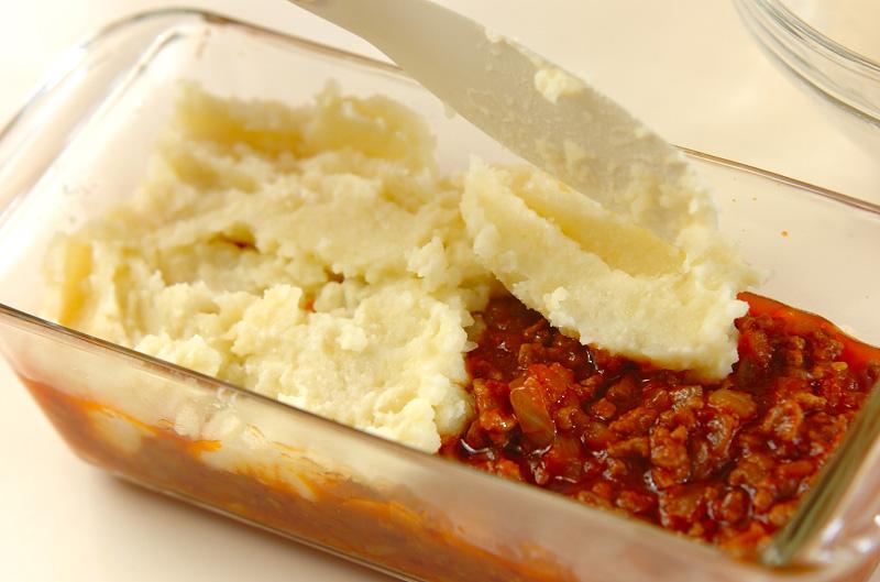 ジャガイモのピューレとひき肉のグラタン(アッシパルマンティエ風)の作り方の手順6