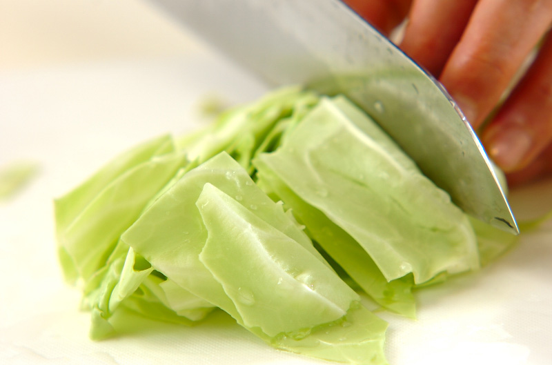 野菜のニンニク炒めの作り方の手順1