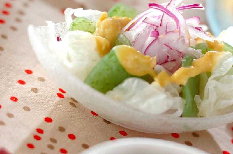 コンニャクの酢みそサラダ