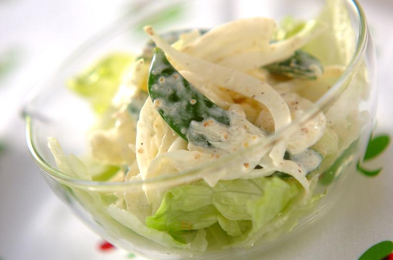 新玉ネギのシャキシャキサラダの作り方の手順