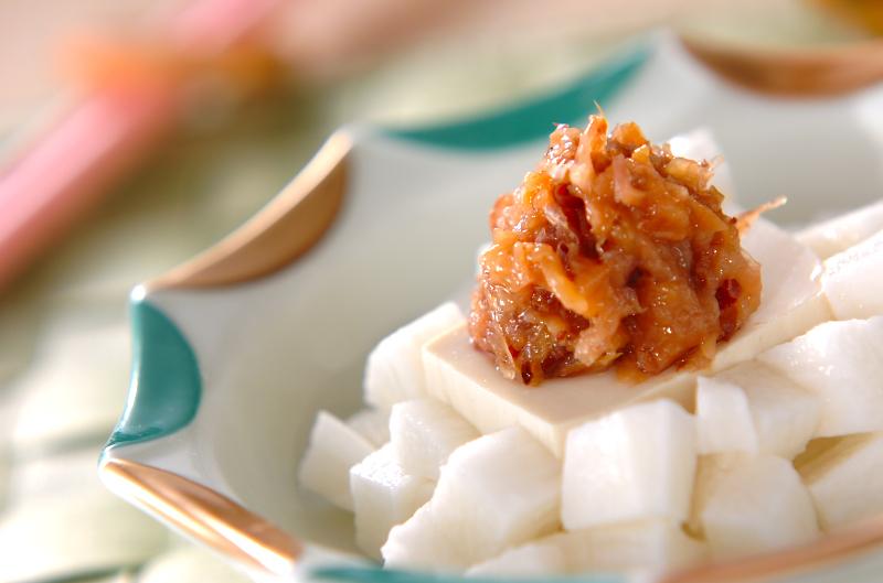 長芋と豆腐の梅おかか