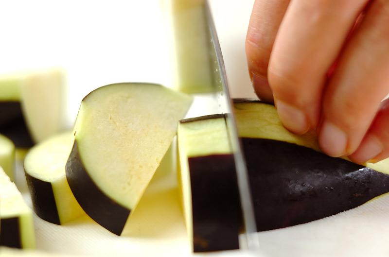 ナスコン粉山椒炒めの作り方の手順2
