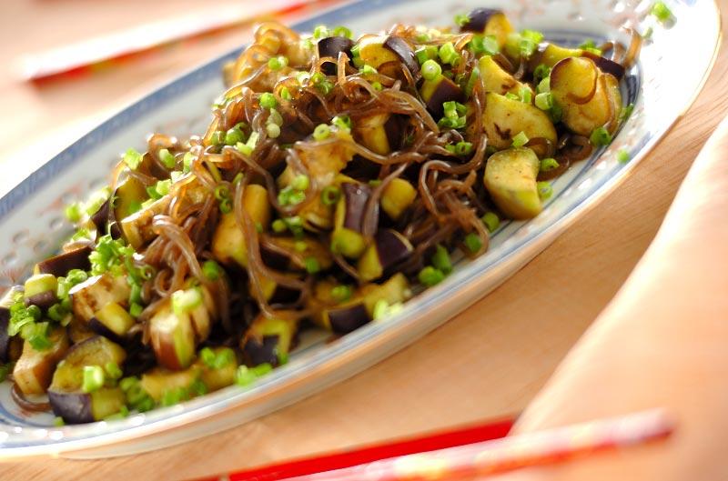 ナスコン粉山椒炒めの作り方の手順