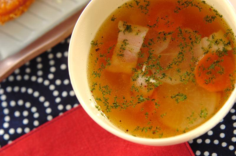 大根のひらひらスープ