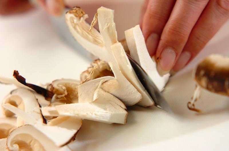 京のおばんざい 松茸の炊き込みご飯の作り方の手順4
