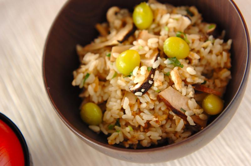 京のおばんざい 松茸の炊き込みご飯の作り方の手順