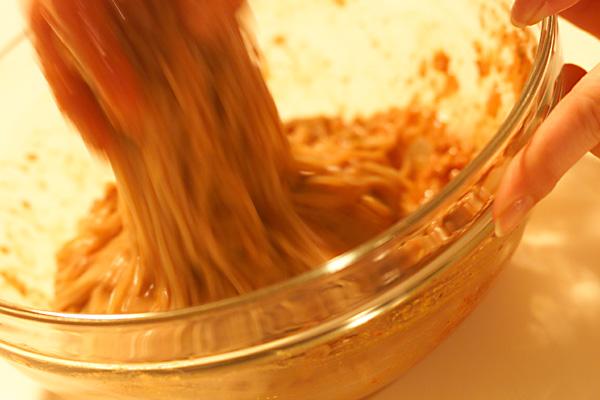 ハーブとタコのビビン冷麺の作り方の手順5