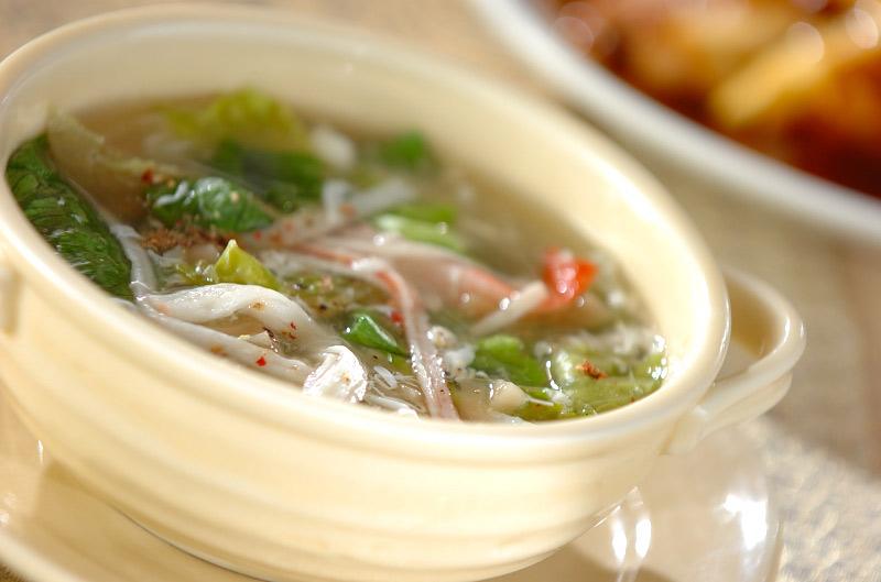 レタスのふわふわスープの作り方の手順