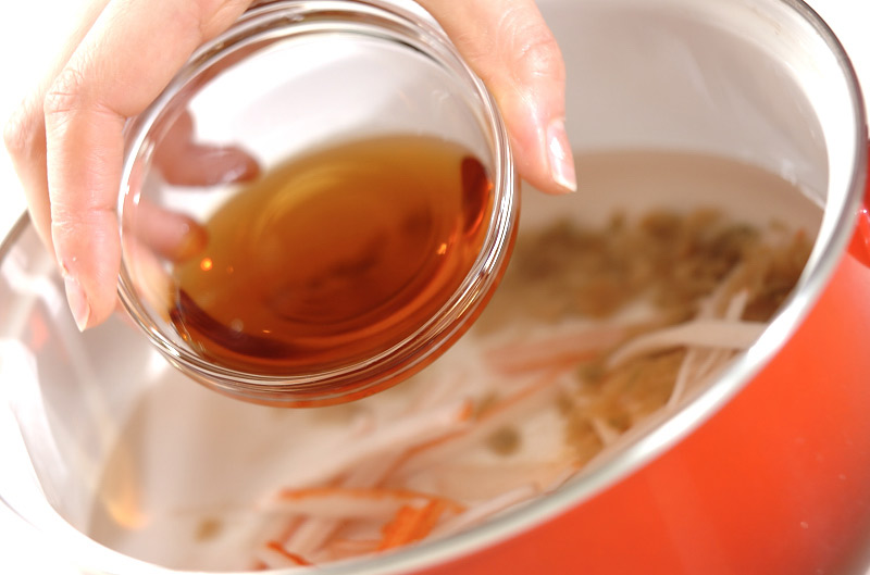レタスのふわふわスープの作り方の手順4