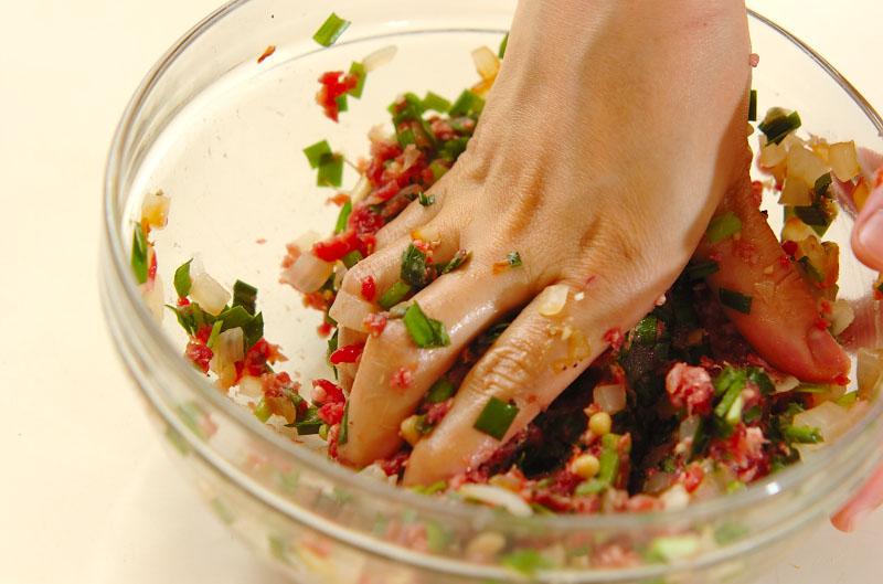 牛ひき肉のフライパン焼きの作り方の手順6