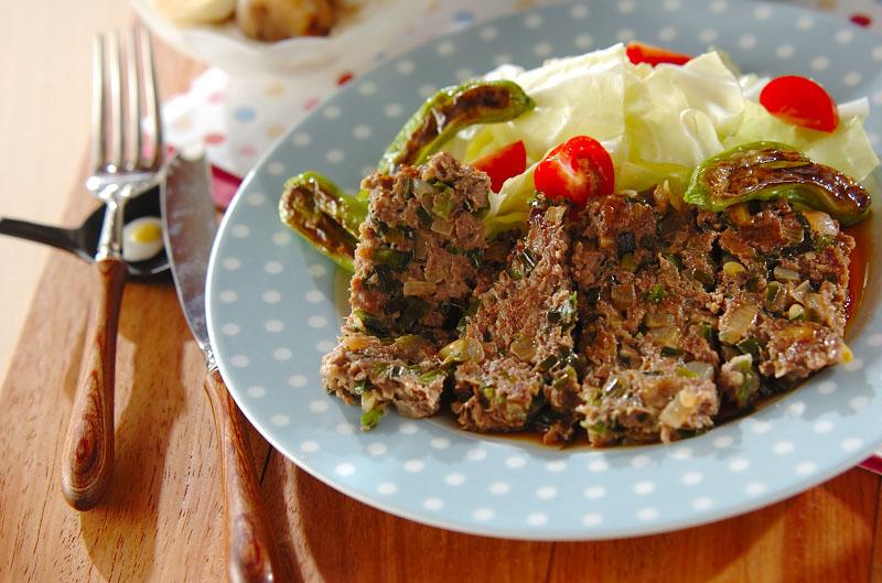 牛ひき肉のフライパン焼きの作り方の手順