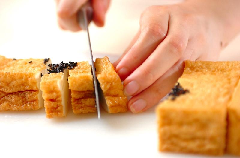 厚揚げの豆板醤炒めの作り方の手順1