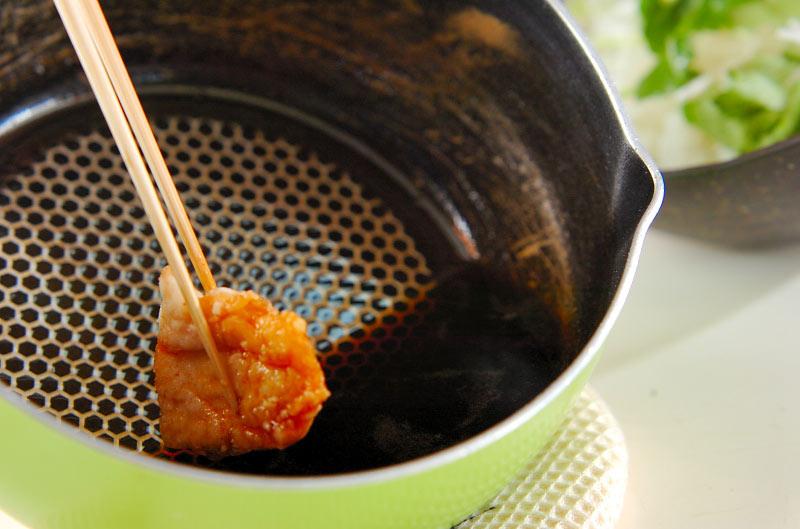 カリカリチキン丼の作り方の手順6