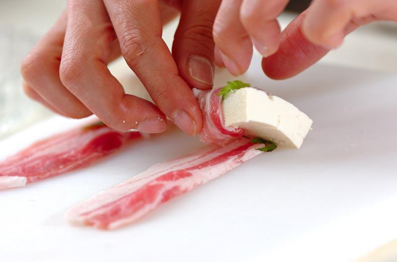 肉巻き豆腐の作り方の手順7
