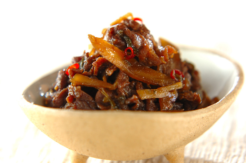 牛肉とゴボウの佃煮