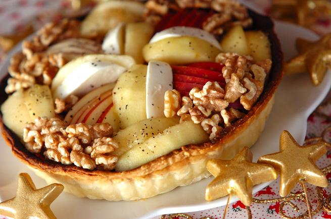 リンゴと洋梨のフレッシュキッシュ