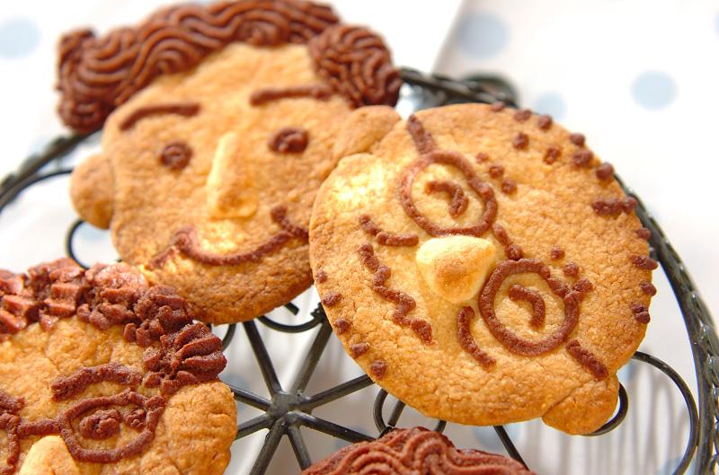 パパの似顔絵クッキーの作り方の手順