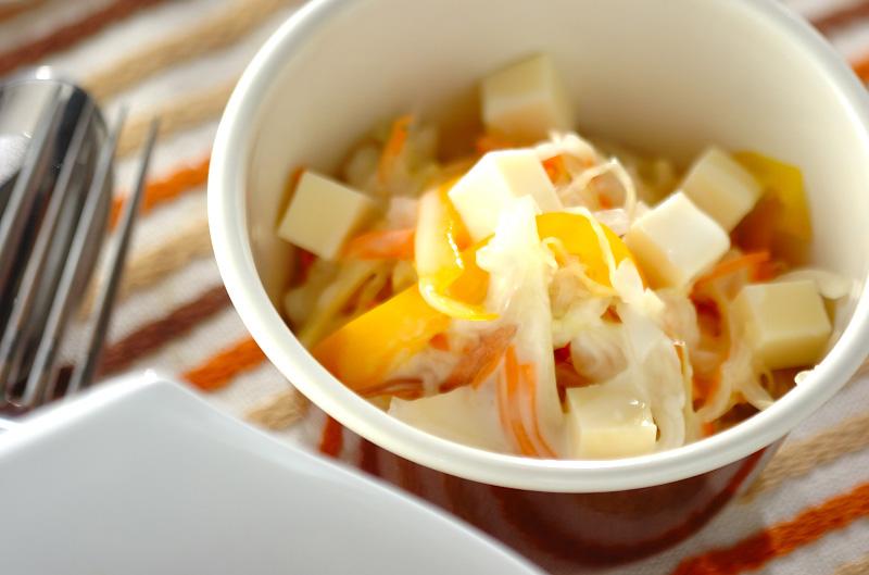 キャベツとミョウガの塩揉みサラダ
